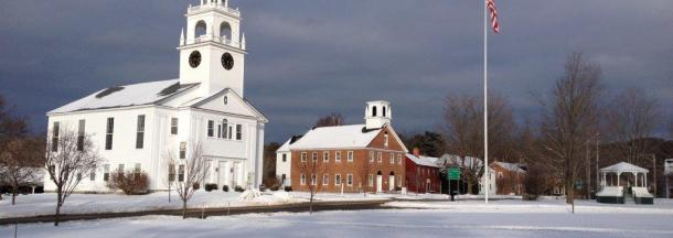 Meetinghouse from across the Common