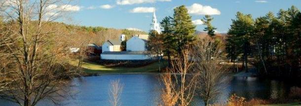 Norway Pond view of Meetinghouse
