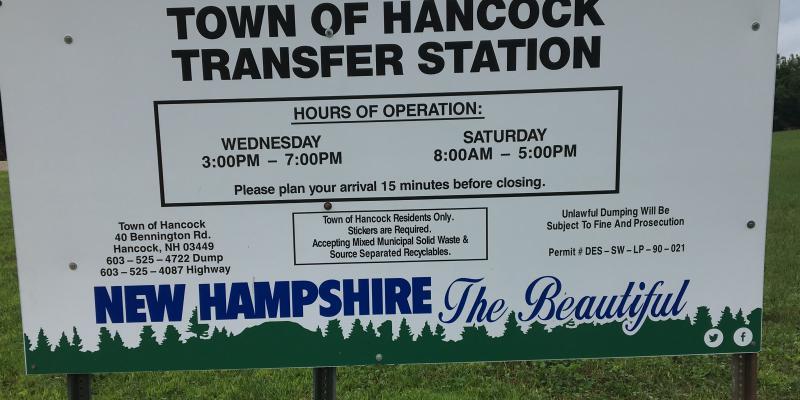 Transfer Station Sign